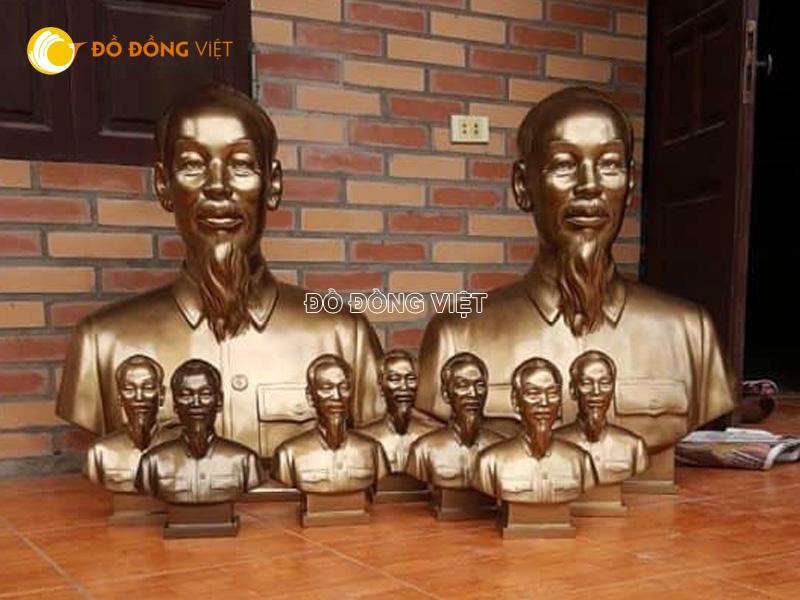 Bán tượng bác hồ bằng đồng cao 30, 40 , 50, 60, 90 cm tại Thành Phố Hồ Chí Minh