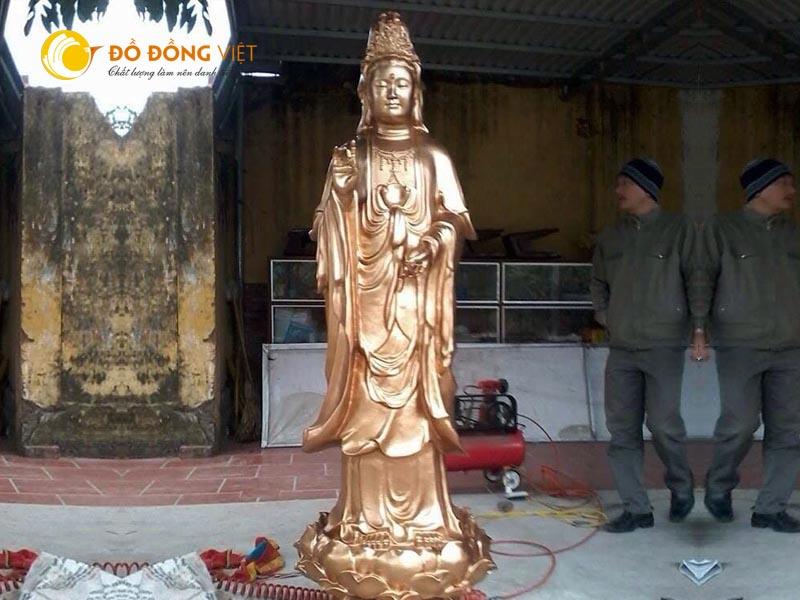 Công ty Đồ đồng Việt chuyên đúc tượng Phật Bà Quan Âm cho các đình chùa
