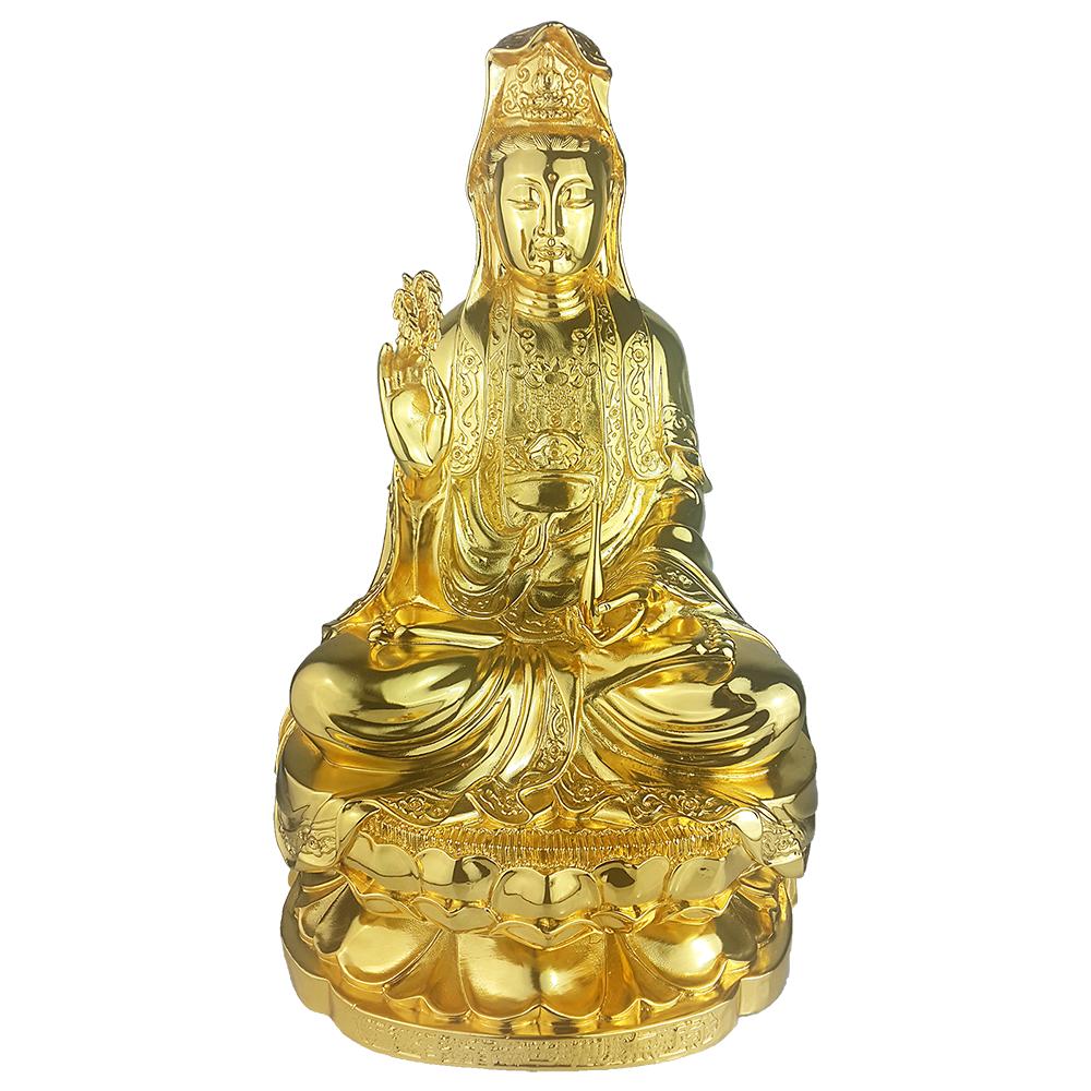 Đúc tượng phật bà quan âm bằng đồng mạ vàng, báo giá đúc tượng Phật đồng