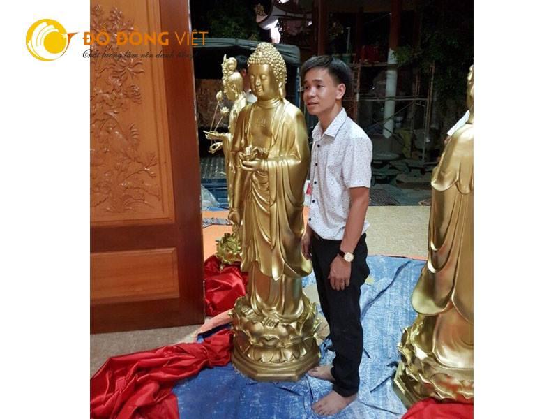 Đúc tượng Phật bồ tác bằng đồng