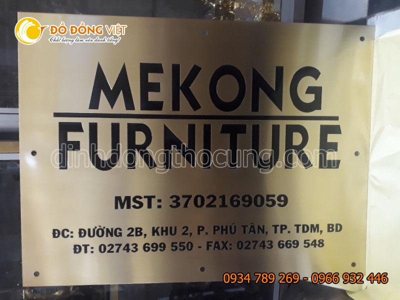 Làm biển hiệu bằng đồng tại TP Hồ Chí Minh