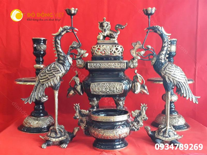 Lư đồng Dapha, đỉnh thờ cúng Dapha hun màu cổ, Lu dong Dapha Vuông trái đào