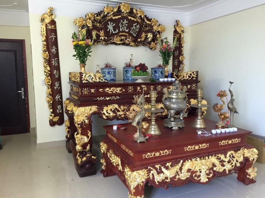 Nhận dát vàng đồ gỗ, đồ thờ bằng đồng uy tín