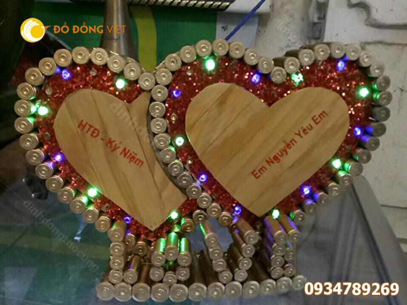 Trái tim bằng vỏ đạn tặng cho người yêu ý nghĩa