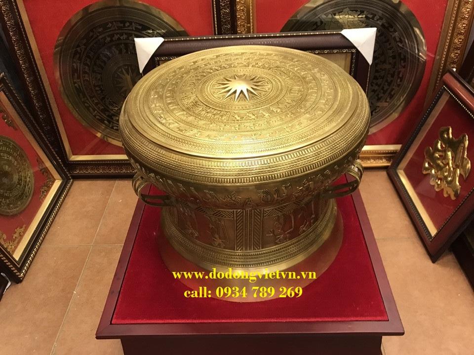 Trống đồng đường kính 60cm, giá bán trống đồng Ngọc Lũ