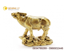 Tượng con Trâu bằng đồng Phong thủy