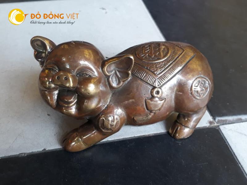 Tượng heo ( Lợn ) , tượng con heo bằng đồng, tượng heo tài lộc, tượng heo phong thủy