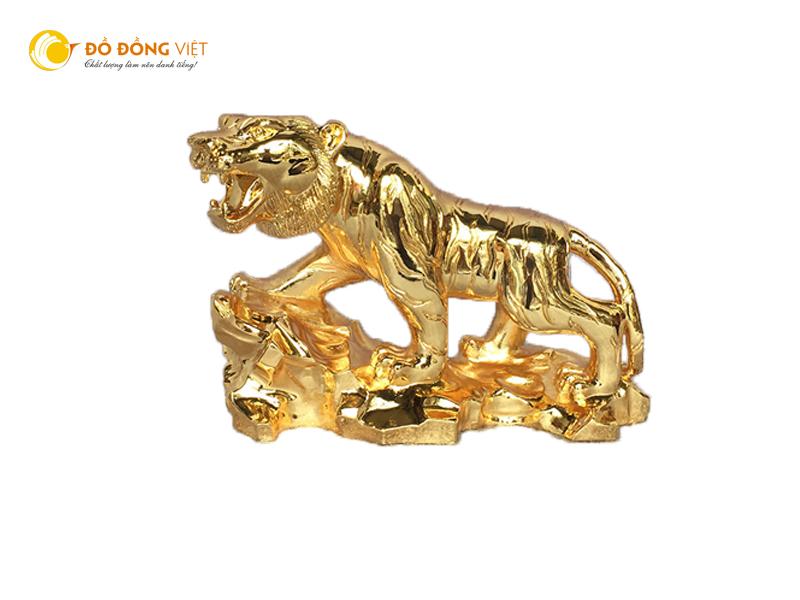Tượng hổ phong thủy mạ vàng sang trọng