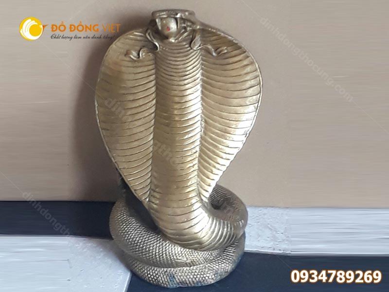 Tượng rắn  con rắn bằng đồng 25cm