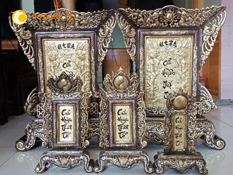 Bài vị thờ cúng, cửa hàng bán bài vị thờ cúng bằng đồng tại TP HCM