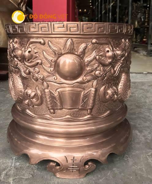 Bát hương đồng đúc thủ công KT 30cm