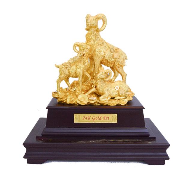 Biểu Trưng Dê Bằng Vàng 24k- quà vàng 24k cao cấp