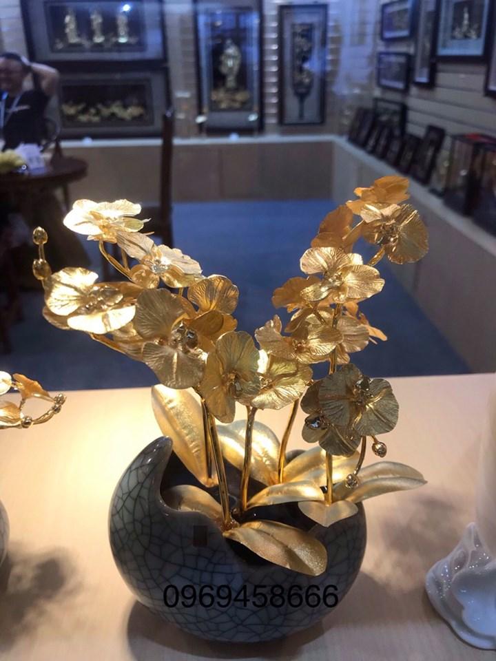 Cây Hoa Lan Bằng Vàng 24K cao cấp
