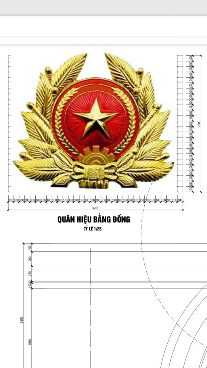 Cơ sở đúc huy hiệu bằng đồng  kt 3mx2,5m tại TP Hồ Chí Minh