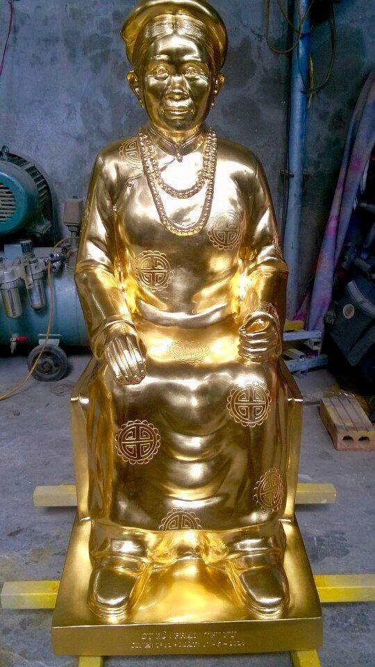 Cơ sở đúc tượng chân dung mạ vàng 24k theo yêu cầu
