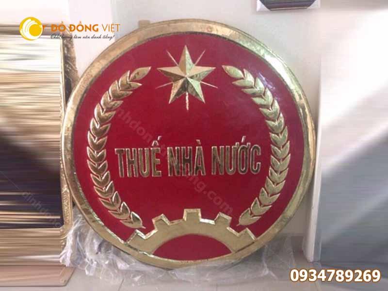 Công ty chuyên đúc logo huy hiệu thuế nhà nước