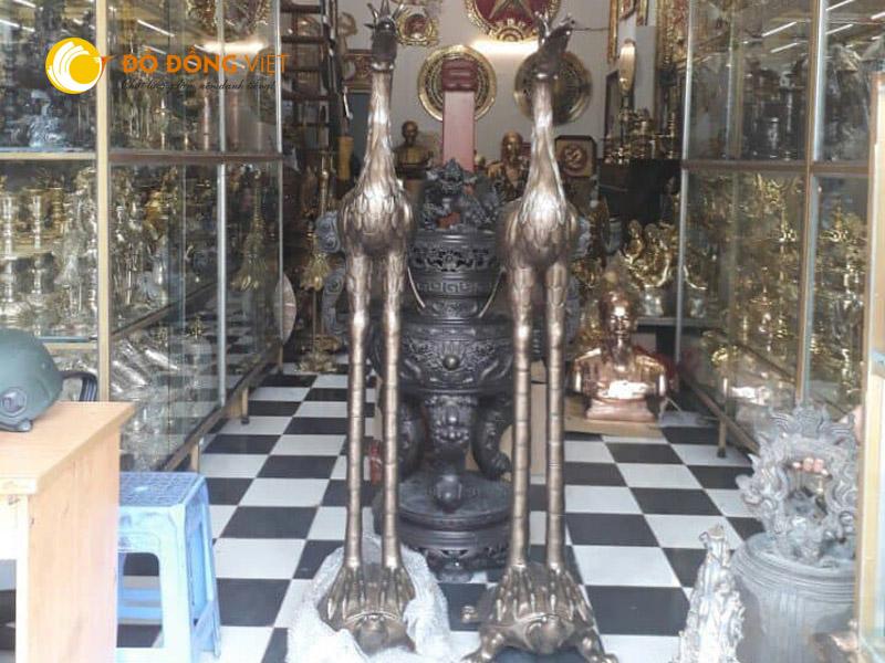 Cửa hàng bán hạc đồng thờ cúng đình chùa tại TP HCM