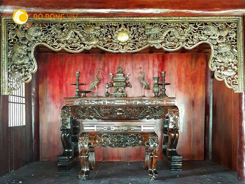 Cửa võng thờ cúng và ý nghĩa của cửa võng
