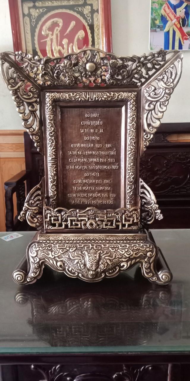 Địa chỉ đúc bài vị thờ cúng bằng đồng theo yêu cầu tại Sài Gòn