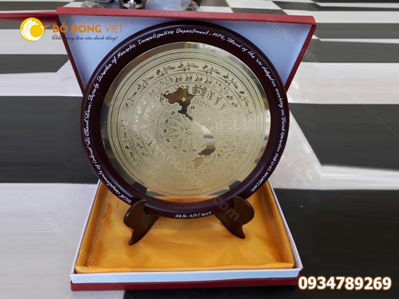 Đĩa trống đồng quà tặng bản đồ Việt Nam