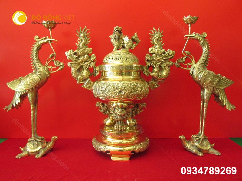 Đỉnh ( lư ) lu đồng Dapha ( đại phát) cao 70 cm 4D đúc nổi
