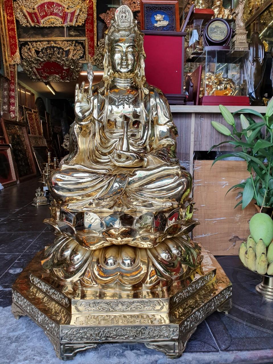 Đồ đồng Việt chuyên đúc tượng Phật bà quan âm theo yêu cầu