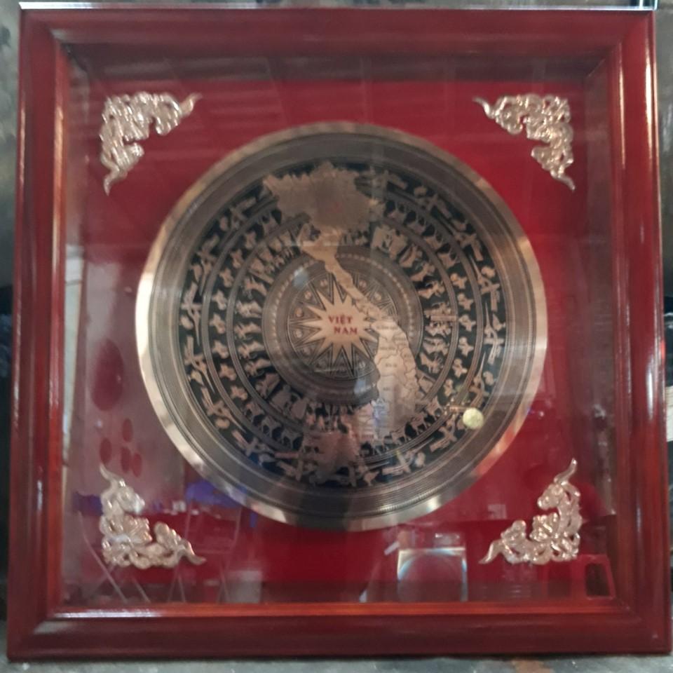 Đồ đồng Việt cung cấp khung tranh mặt trống đồng đẹp