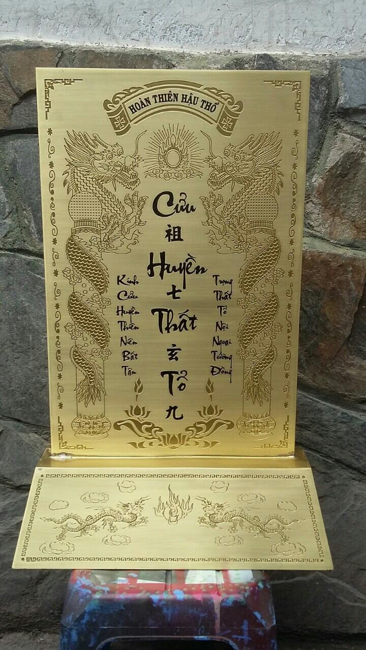 Đồ đồng Việt đúc bài vị bằng đồng khắc tên theo yêu cầu