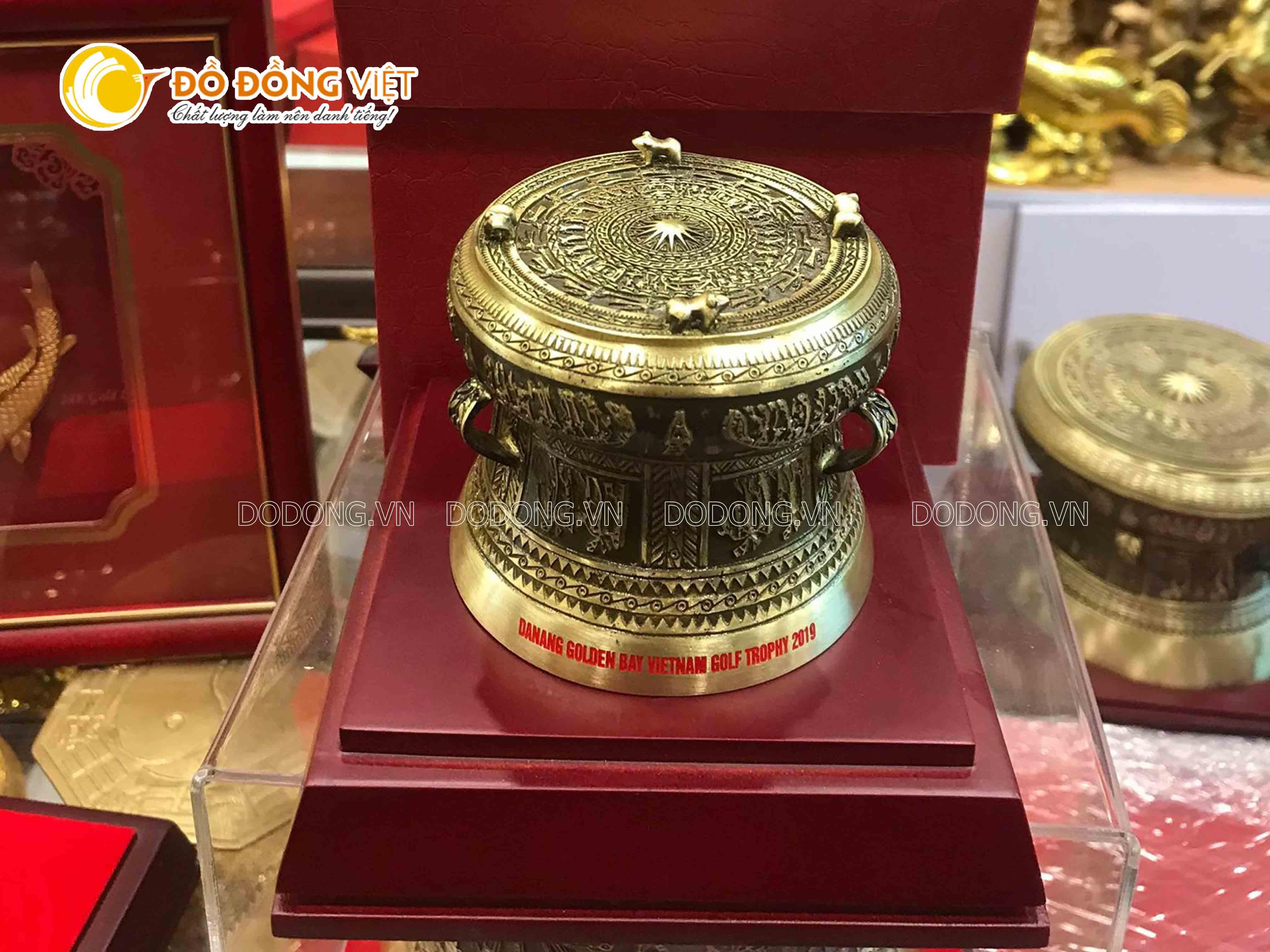 Đồ Đồng Việt giới thiệu sản phẩm trống đồng lưu niệm dk 12cm đẹp và rẻ