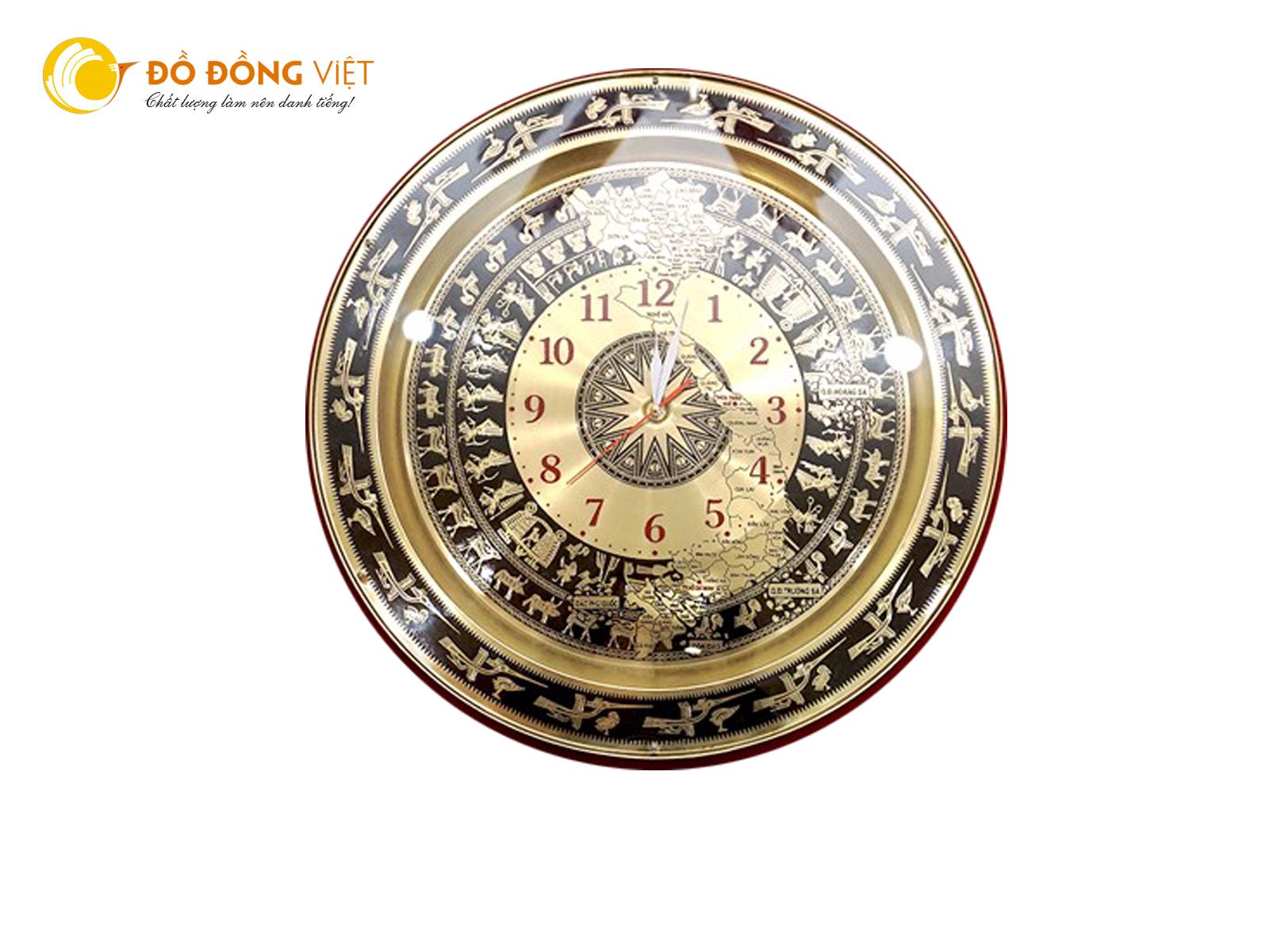 Đồng hồ mặt trống đồng đông sơn quà tặng trống đồng lưu niệm