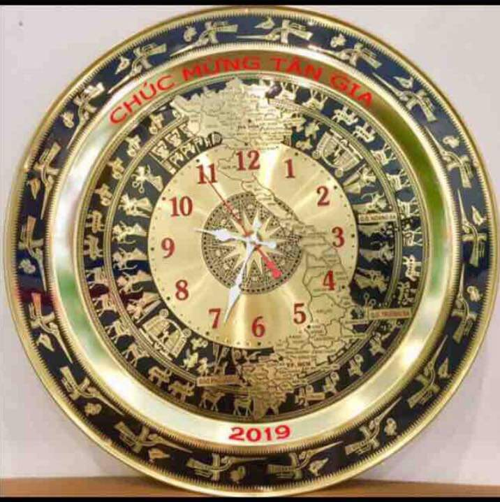 Đồng hồ mặt trống đồng- quà tặng đồ đồng cao cấp