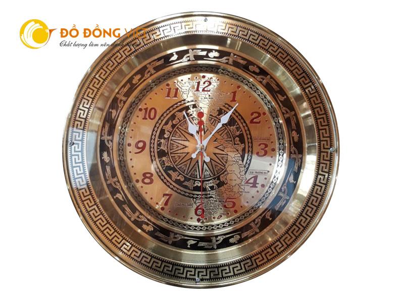 Đồng hồ treo tường hình trống đồng đông sơn làm quà tặng ý nghĩa