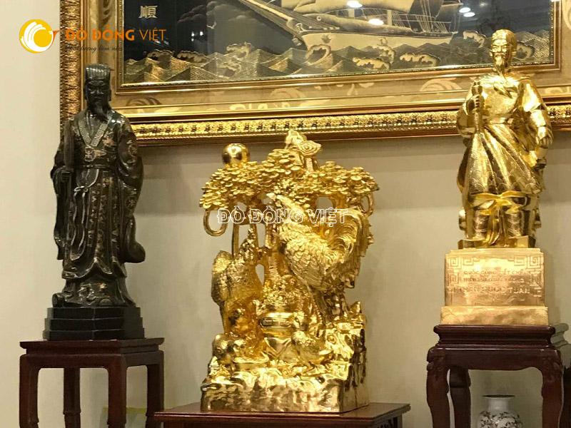Đúc tượng đồng theo yêu cầu, tượng đồng mạ vàng đẹp tinh xảo