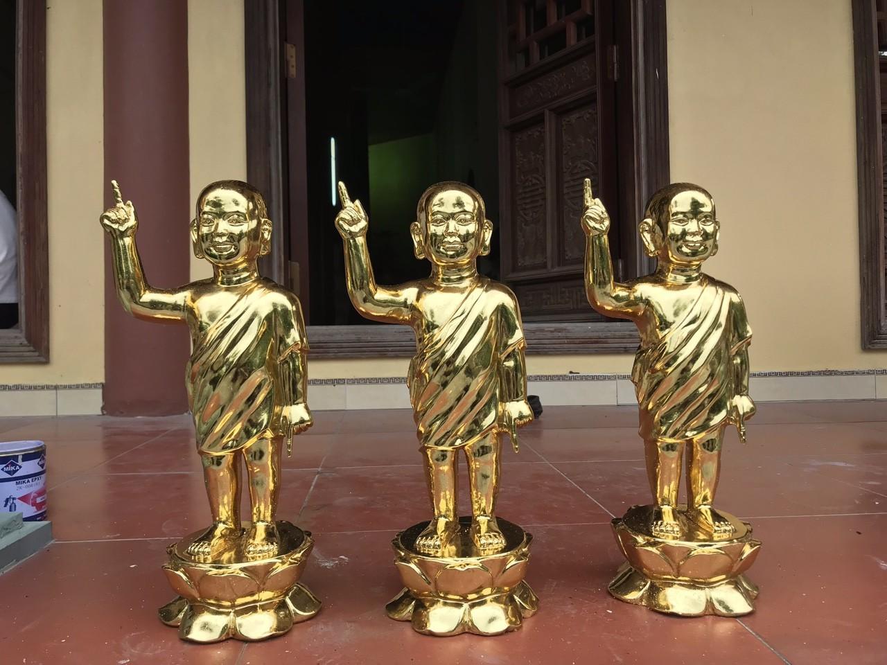 Đúc tượng Phật đản sinh bằng đồng mạ vàng theo yêu cầu