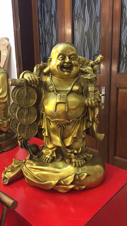 Đúc tượng Phật Di Lặc bằng đồng vàng