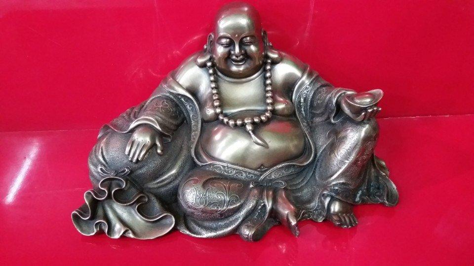 Đúc tượng Phật Di Lặc ngồi ôm bao tiền bằng đồng, đúc tượng Phật đồng theo yêu cầu
