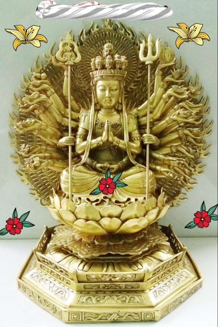 Đúc tượng Phật Thiên Thủ Thiên Nhãn bằng đồng vàng theo yêu cầu