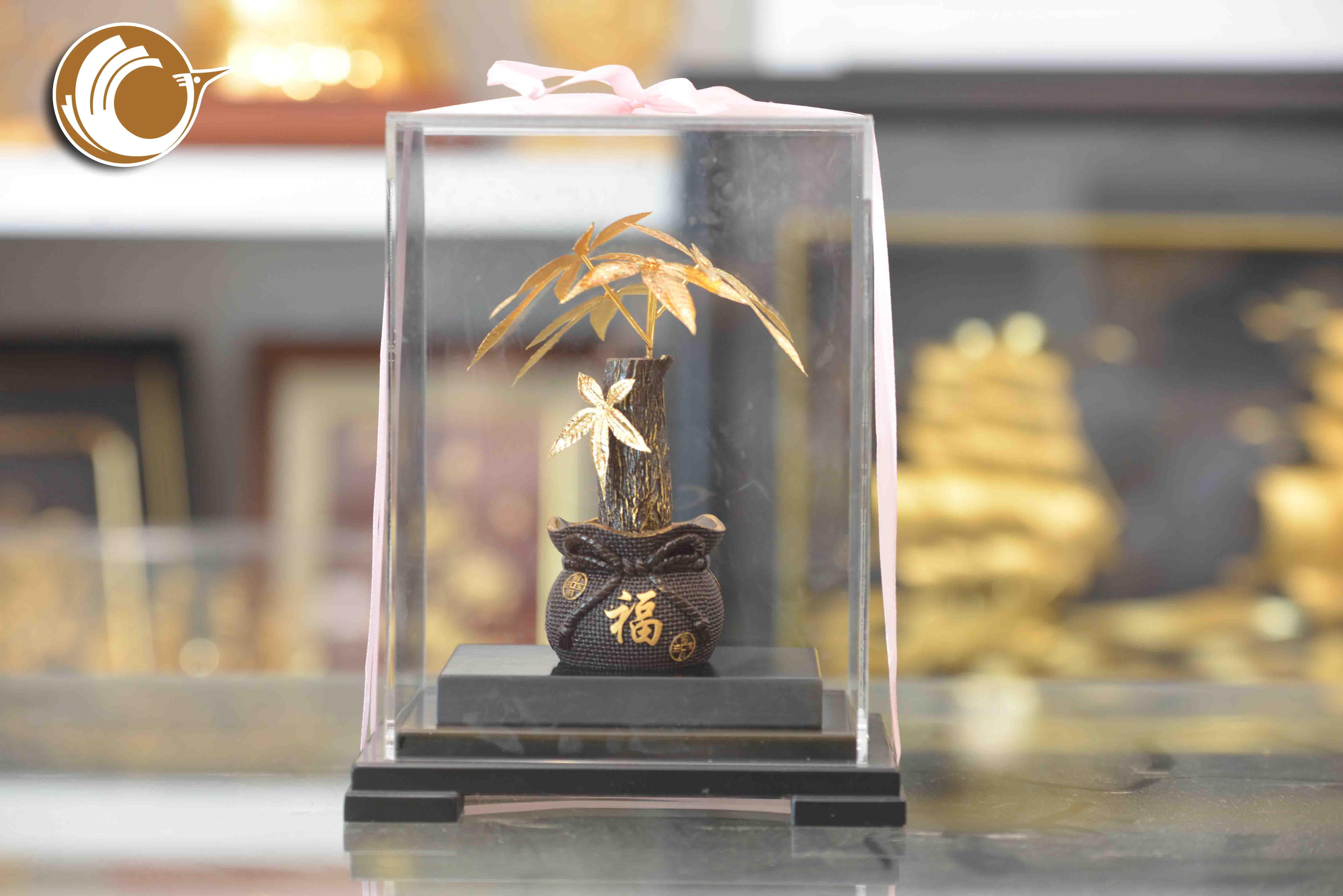 Giá bán cây kim ngân bằng vàng lá 24k, quà tặng đẹp và ý nghĩa