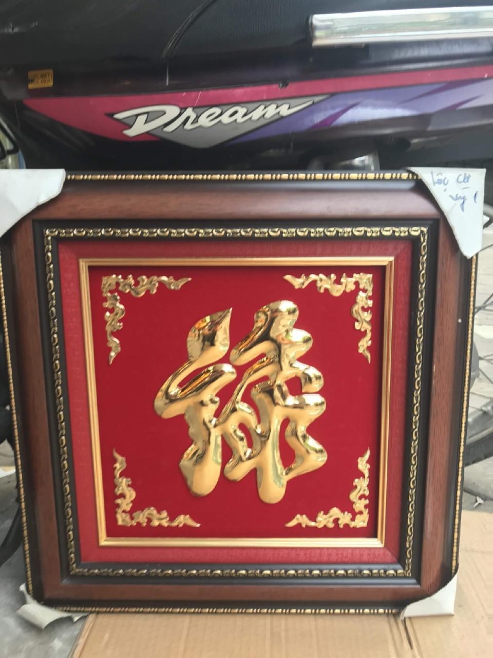 Giá bán tranh chữ Phúc Hán nôm bằng đồng dứt