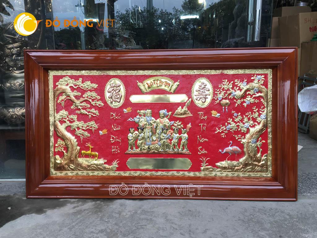 Giá bán tranh đồng mừng thọ tại Đồ đồng Việt