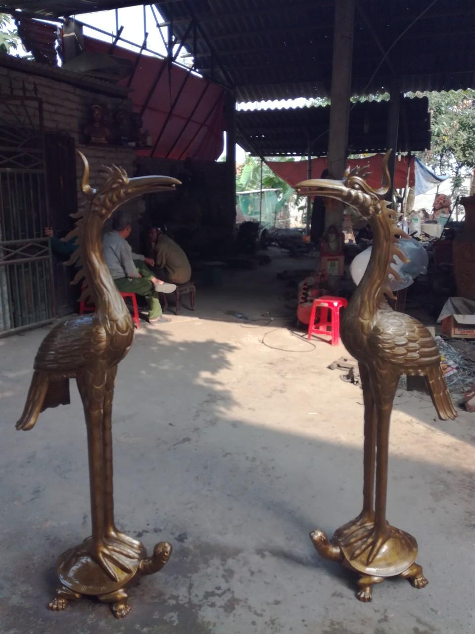 Hạc đồng thờ cúng chất lượng cao tại Đồ đồng Việt