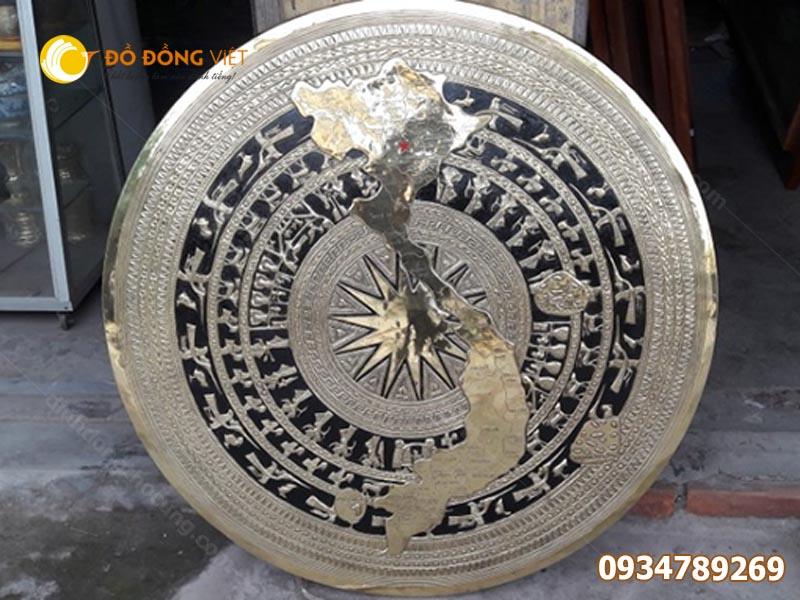 Bán mặt trống đồng Đông Sơn trang trí nội thất DK 1,5m