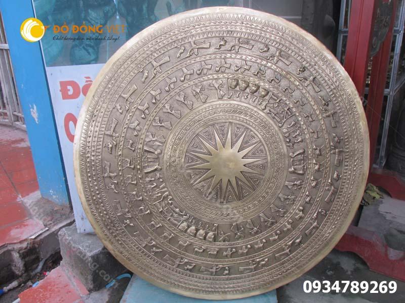 Mặt trống đồng gò thủ công đường kính dk 0.8m 80cm
