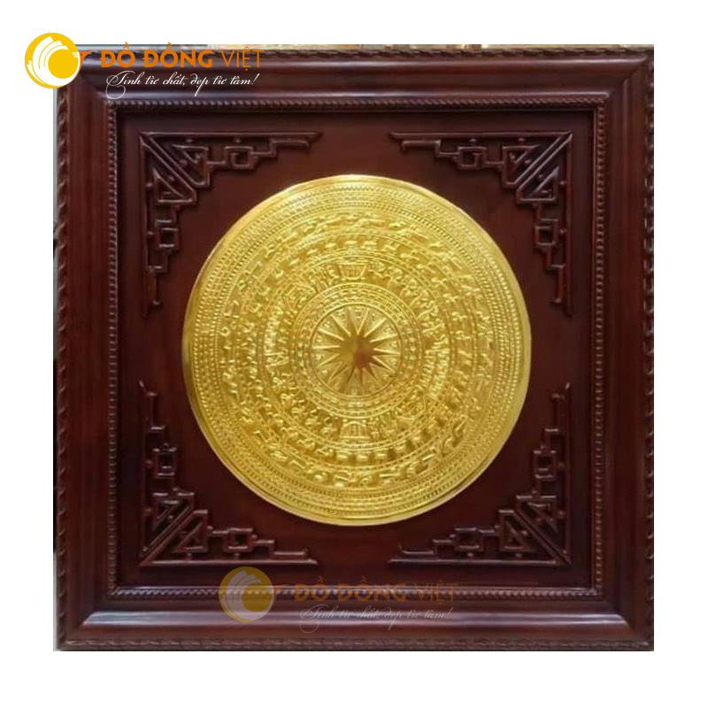 Mặt trống đồng mạ vàng kt 60 cm cả khung là 90cm