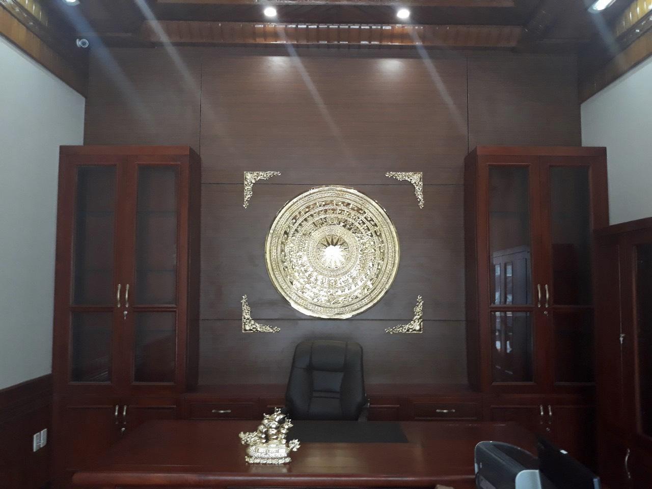 Mặt trống đồng trang trí văn phòng, giá bán mặt trống đồng đẹp