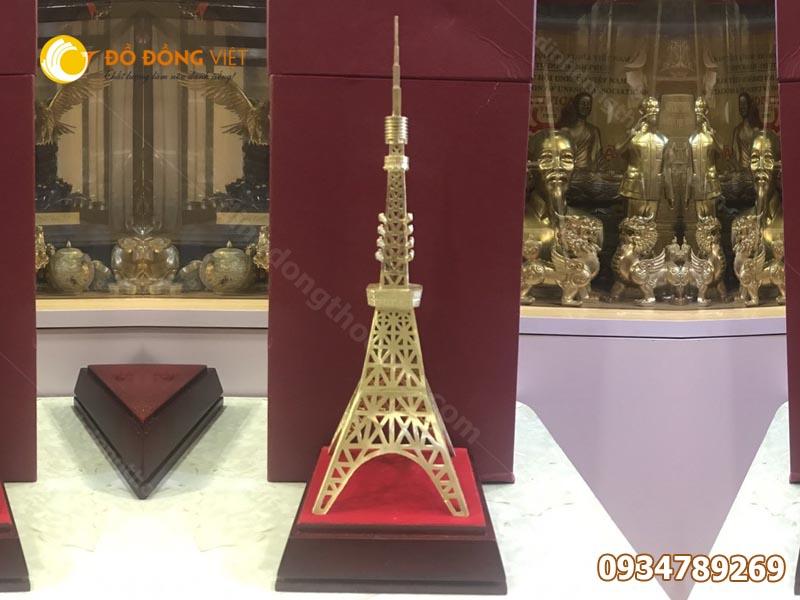 Mô Hình Tháp Eiffel bằng đồng