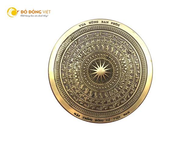Quà tặng lưu niệm mặt trống đồng cỡ nhỏ, mặt trống đồng Đông Sơn