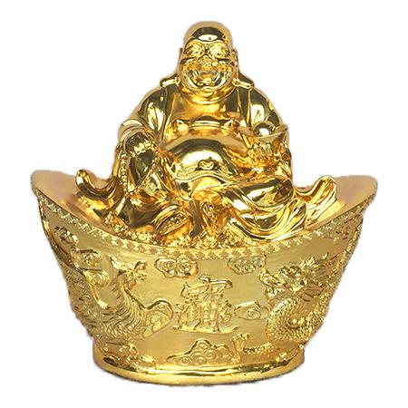 Quà tặng tâm linh, tượng Phật di lặc ngồi trên thỏi vàng