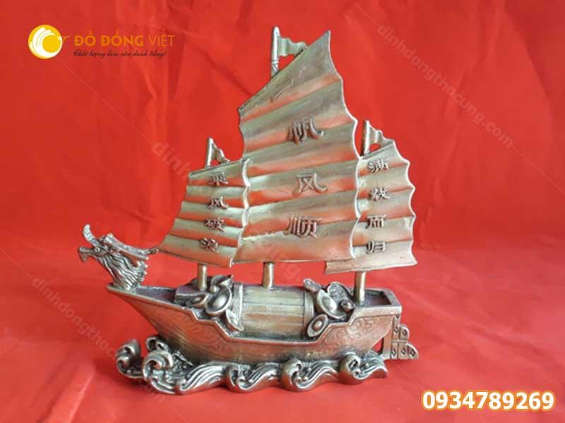 Thuyền buồm bằng đồng phong thủy 25cm