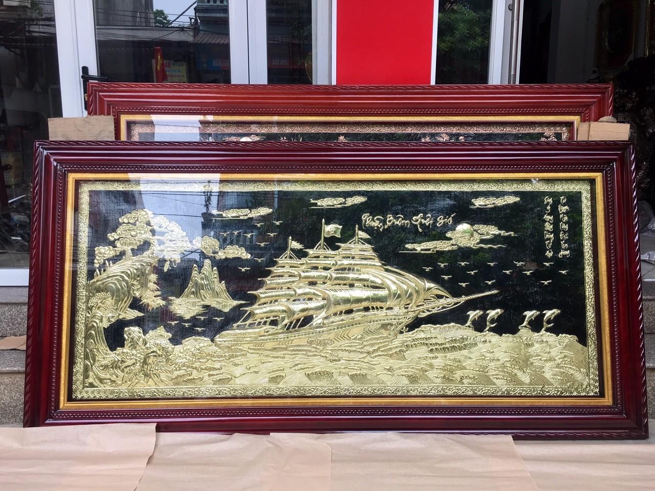 Tranh đồng mỹ nghệ Thuận buồm xuôi gió, giá bán tranh đồng mỹ nghệ